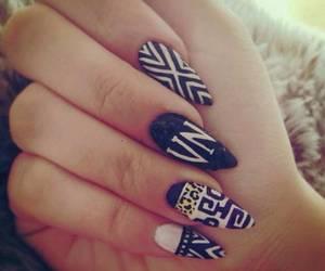 nails, nail art, and aztec image