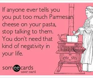 funny, negativity, and pasta image