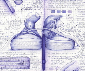 converse, drawing, and art image