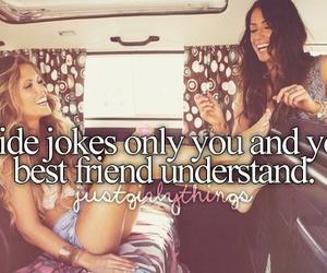 best friends, inside jokes, and fun image