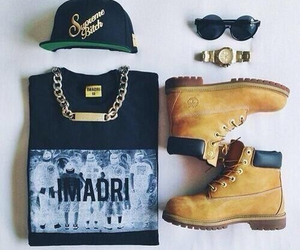 timberland, swag, and outfit image