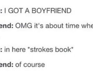 books, boyfriend, and excited image