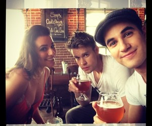lea michele, darren criss, and chord overstreet image