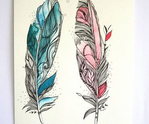 drawing and feathers image