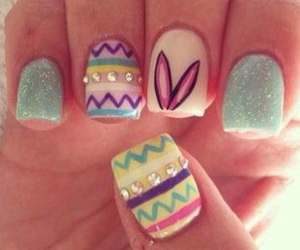 <3, colorful, and nails image