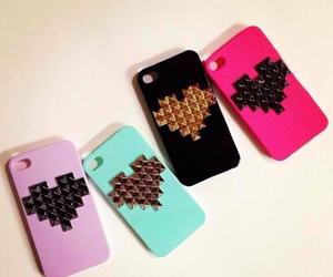 hearts, phone cases, and ipod cases image