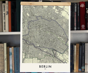 berlin, germany, and map image