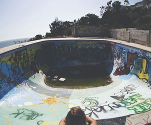 skate, boy, and graffiti image