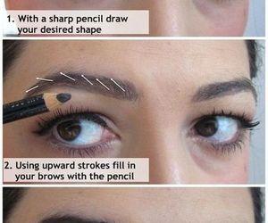 eyebrows, makeup tutorial, and makeup image