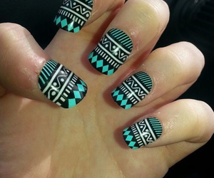 nails, blue, and hipster image