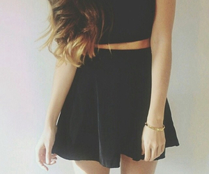 fashion, black, and girl image
