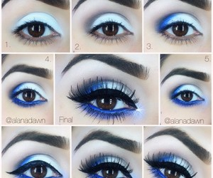 makeup, blue, and tutorial image