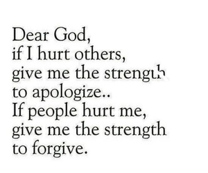 god, strength, and apologize image