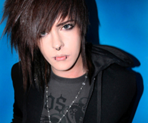 boy, brown hair, and emo image