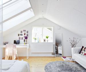 apartment, decor, and desk image