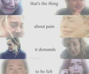 pain, divergent, and book image