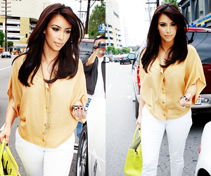 kim kardashian, fashion, and style image