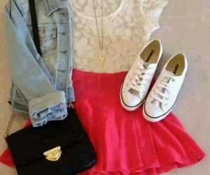 converse, pink, and outfit image