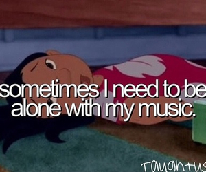 music, alone, and disney image