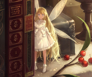 anime girl, kawaii, and fairy image