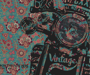 vintage, wallpaper, and flowers image