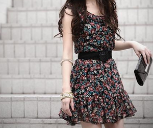 brown, brunette, and dress image