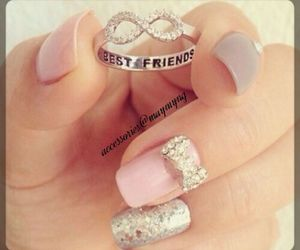 nails, ring, and best friends image