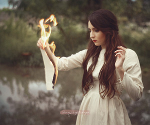 burn, dress, and fire image
