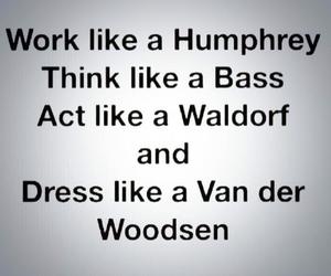 bass, waldorf, and gossip girl image