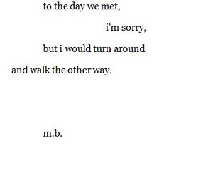 quote, sad, and sorry image