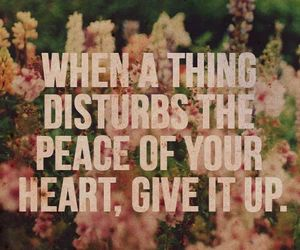 quote, peace, and heart image