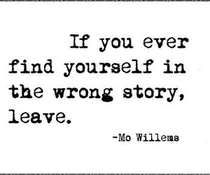 quote, leave, and story image