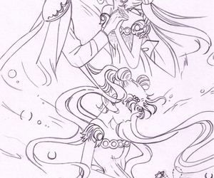 endymion, sailor moon, and princess serenity image