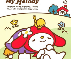 kawaii, my melody, and sanrio image
