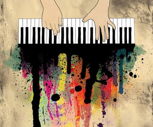 piano, art, and color image