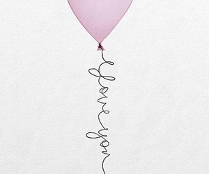 pink, love, and balloon image