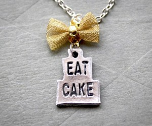 cake, necklace, and eat image