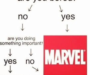 bored, funny, and Marvel image
