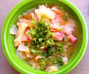 cabbage, ham, and soup image