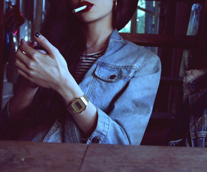 girl, smoke, and grunge image