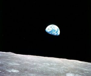 moon, earth, and space image