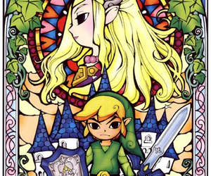 link, zelda, and wind waker image