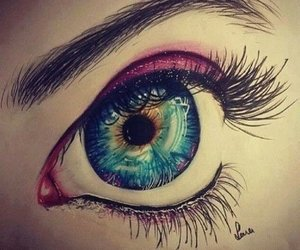 eye, eyes, and art image