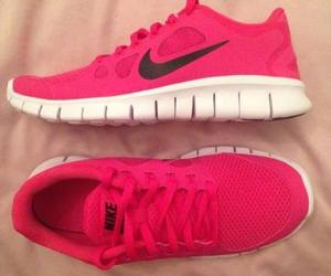 nike, pink, and shoes image