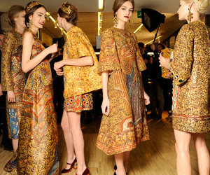 fashion, model, and gold image