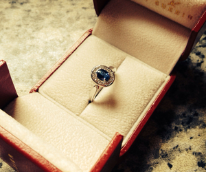 blue, ring, and cartier image