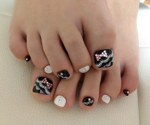 nails, bow, and toes image