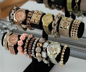 bracelet, girly, and gold image