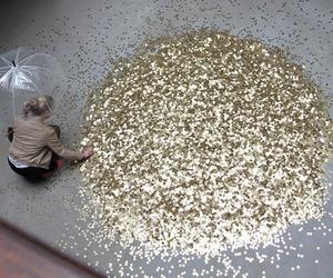 glitter, gold, and art image