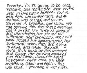 breathe, quotes, and anxiety image